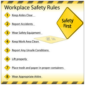 Safety Plan - Workplace Safety Rules