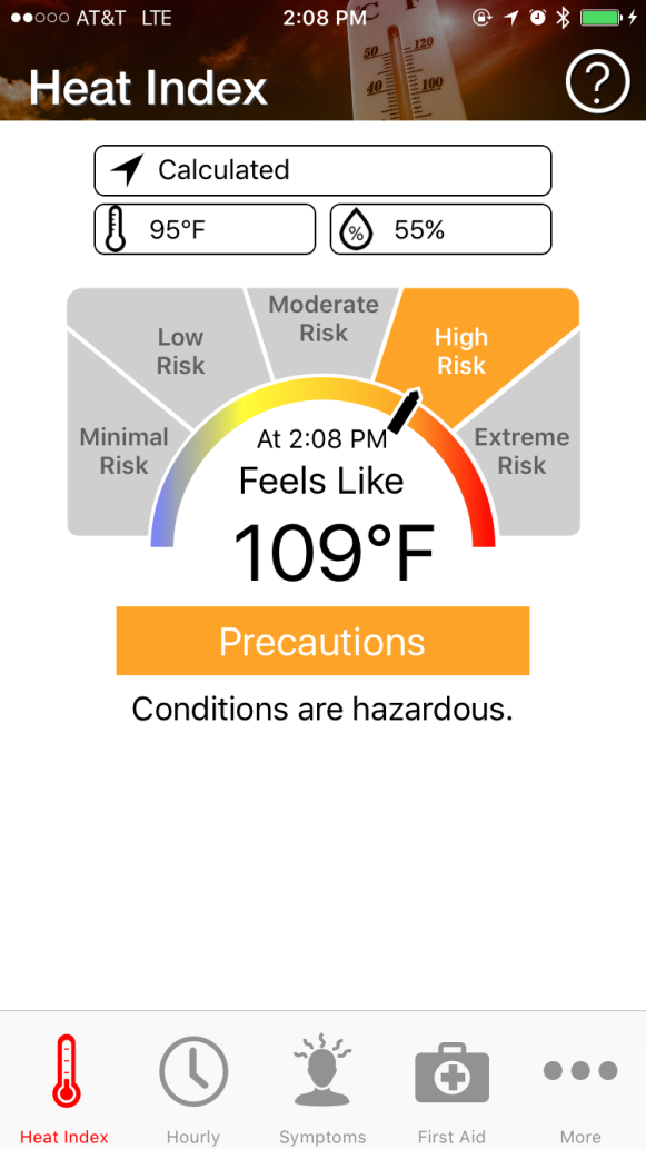 Prevent Heat Illness. OSHA-NIOSH Heat Index application